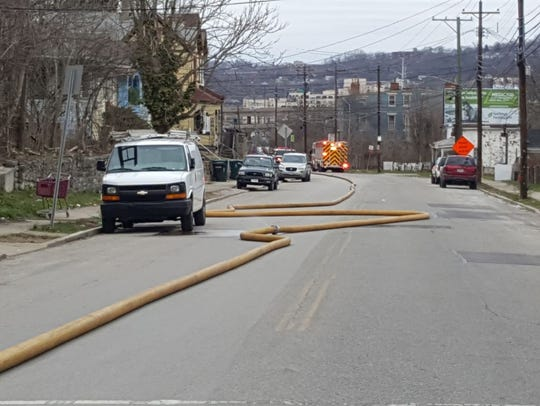 State Road was closed after a possible explosion and