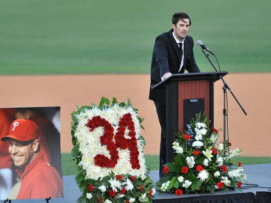 Texas Rangers pitcher Cole Hamels talks about his former
