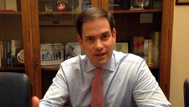 Sen. Marco Rubio, R-Fla., talks to USA TODAY about his re-election bid.