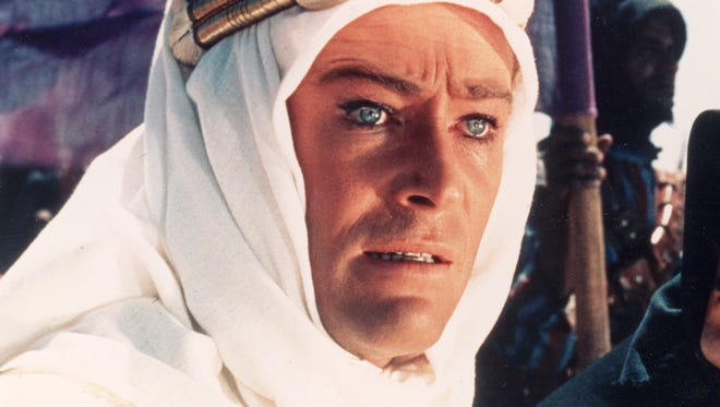 Headshot of Irish actor Peter O'Toole (L) and Egyptian-born actor Omar Sharif in a still from the film, 'Lawrence of Arabia,' directed by David Lean, 1962. (Photo by Columbia Pictures/Courtesy of Getty Images) [Via MerlinFTP Drop]