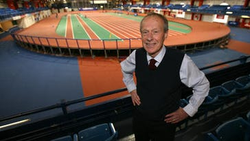 """Hastings resident Norbert Sander, who won the New York City Marathon in its early days and now heads the Armory track complex, appears in the documentary """"Free to Run,"""" which explores the growth of marathon racing."""