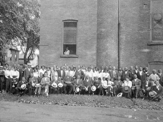 An undated photo of the congregation at Frederick Douglass Memorial AME Zion Church in Elmira.