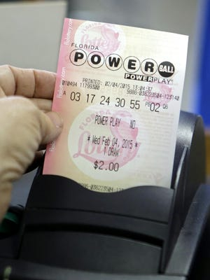 A Powerball ticket.