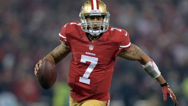 San Francisco 49ers quarterback Colin Kaepernick has thrown for 2,887 yards and 19 touchdowns, and he's been intercepted eight times.