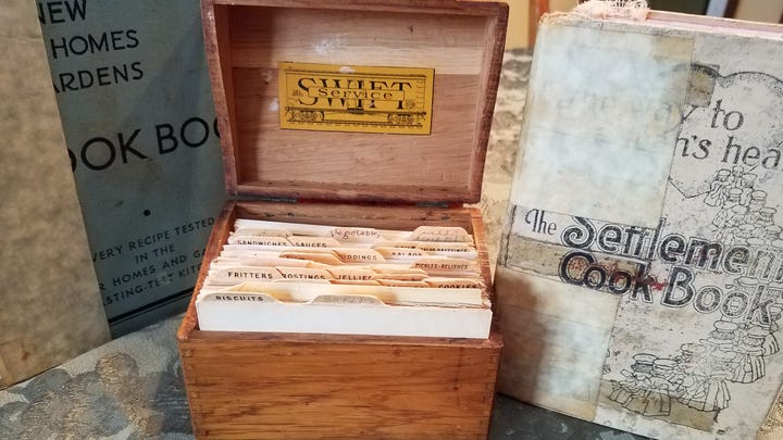 Recipe boxes hold their own kind of family treasures.