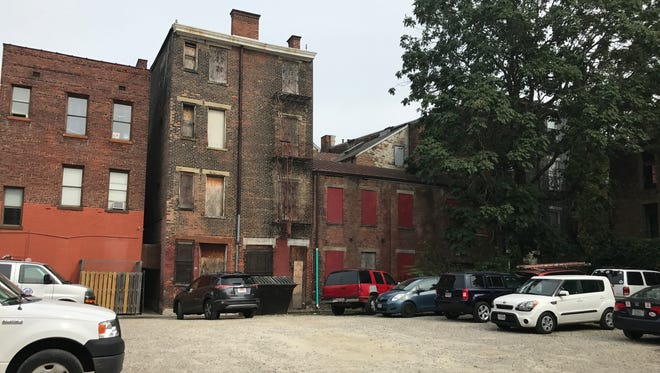 A City of Cincinnati-owned vacant lot near Republic and 15th Street in Over-the-Rhine.
