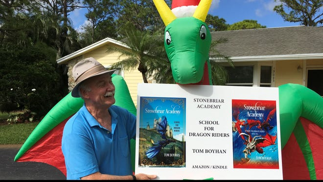 Tom Boyhan, of the Jupiter area, began writing stories and short books for his grandchildren shortly after they started attending school. One of these books became too large to share with his grand kids and their classmates, so he decided to self-publish it for them. To his surprise, the book has sold modestly well as an e-book.