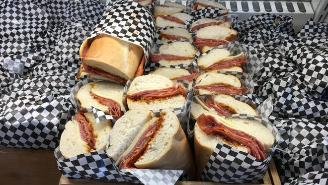 Sandwich offerings at Made in Detroit Market at Cobo Center