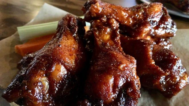 The Germantown sweet-hot wings at Germantown Pub in — you guessed it — Germantown
