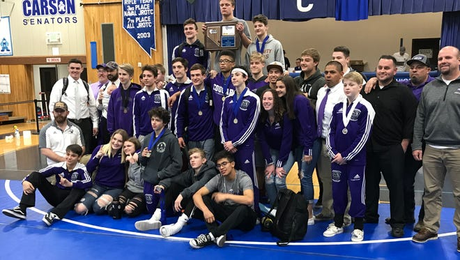 Spanish Springs won its sixth straight Northern 4A Regional wrestling tile on Saturday at Carson.