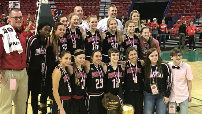 Marshall's girls basketball team won its first state championship since 1977.