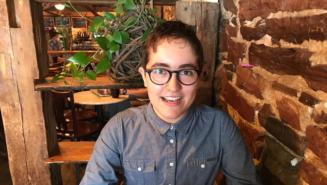 Alex Escaja-Heiss, a recent South Burlington High School graduate talked about the issues facing LGBT students in Vermont at Muddy Waters Cafe in Burlington on June 19, 2018.
