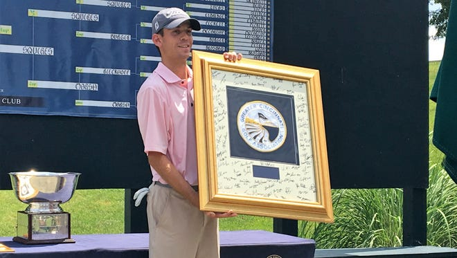 Will Grimmer won the Tony Blom Metropolitan Amateur championship July 1, 2018 at Triple Crown Country Club.