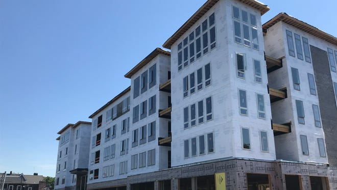 A new 122-unit apartment complex at 50 Front St. is scheduled to be completed in the first quarter of 2019. Units in the complex will carry some of the highest rents in the county.