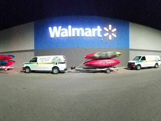 The A Day Away Kayak crew prepares to respond to the