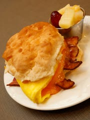 The Rise & Shine Biscuit Sandwich at Lola's in Nixa