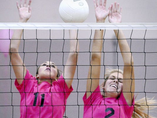 Senior Laura Savin, left, is expected to be one of the stalwarts on the Susquehannock girls' volleyball team this fall.
