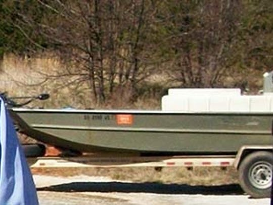 Mitchell Gibson used this boat to catch bait. The boat has not been found.