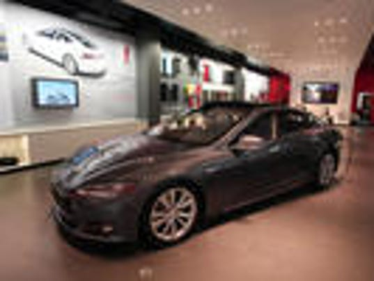 Tesla in a New Jersey showroom. (Asbury Park Press)