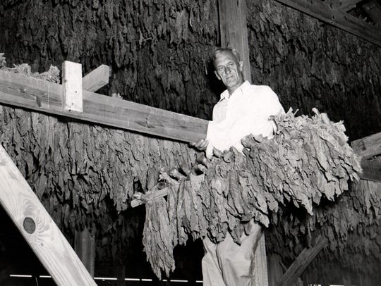 William Hudson in Eloise Hospital's tobacco drying