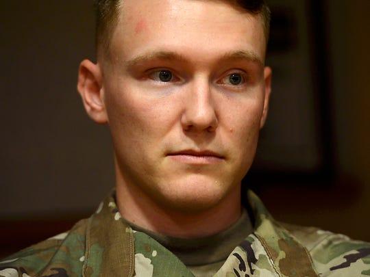 Vermont National Guard Sgt. Micah Paroline joined the