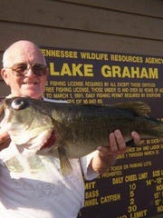 John D. Graham at Lake Graham in Madison County, which is named for him.