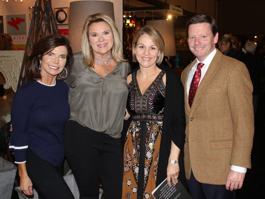 Suzanne Ware, Kerri Johnson, Ginger and Rand Smith at the 28th annual Antiques & Garden Show Preview Party at Music City Center.