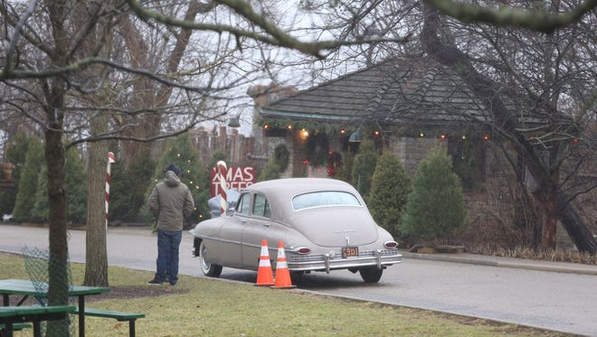 """Eden Park restrooms were decorated as a Christmas tree shop for """"Carol."""""""