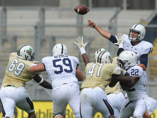 Protecting Christian Hackenberg is still top priority at Penn State this spring.