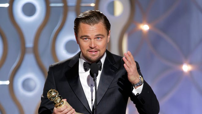"""Leonardo DiCaprio, nominee for Best Actor in a Leading Role for his performance in """"The Wolf of Wall Street."""""""