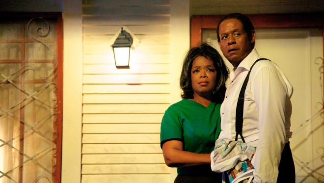 Oprah Winfrey as Gloria Gaines, left, and Forest Whitaker as Cecil Gaines in 'Lee Daniels' The Butler,' which led the field in the SAG awards nominations.