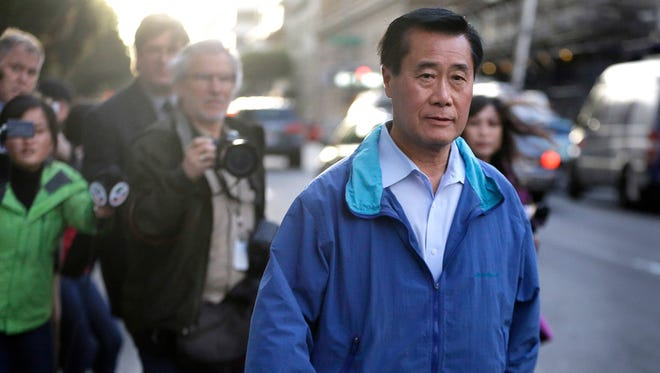 On March 26, 2014, California state Sen. Leland Yee, D-San Francisco, leaves the San Francisco Federal Building.