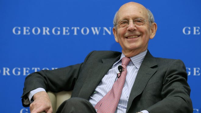 Supreme Court Justice Stephen Breyer at Georgetown University Law Center in April.