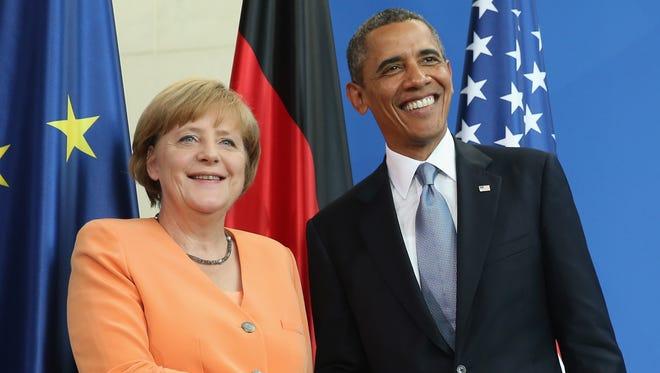 President Obama and German Chancellor Angela Merkel.