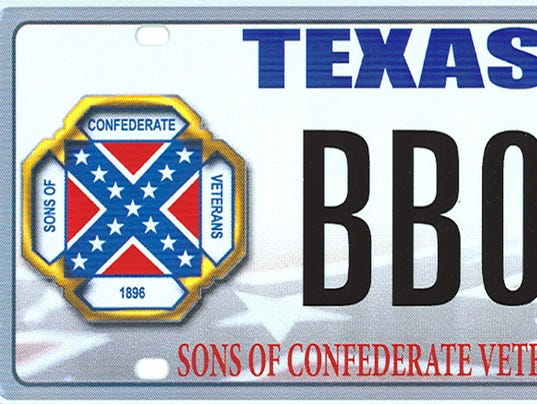 Confederate plate blocked by SC