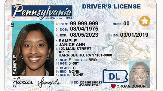 This is a sample of a REAL ID-Compliant Non-Commercial Driver's LicensePennDOT