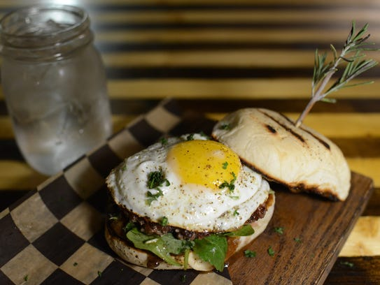 One of the weekly Tuesday $5 burger specials at Proof,