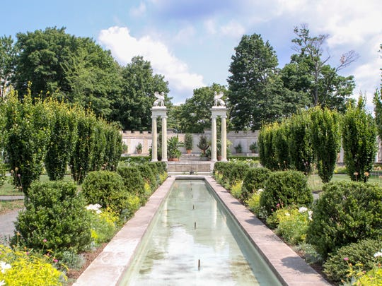 The Walled Garden in Untermyer Gardens is said to be modeled after the Garden of Eden.