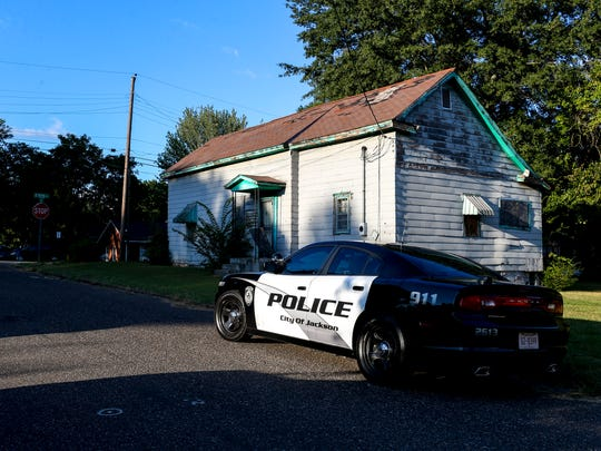 Jackson City Police Department and SWAT team responds to a welfare check and reported gunshot at 100 block of Conger St in Jackson, Tenn., on Monday, Sept. 3, 2018.