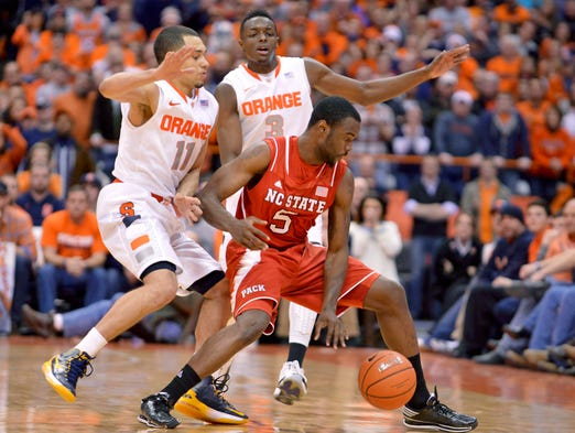 Syracuse defeated North Carolina State 56-55 Saturday.