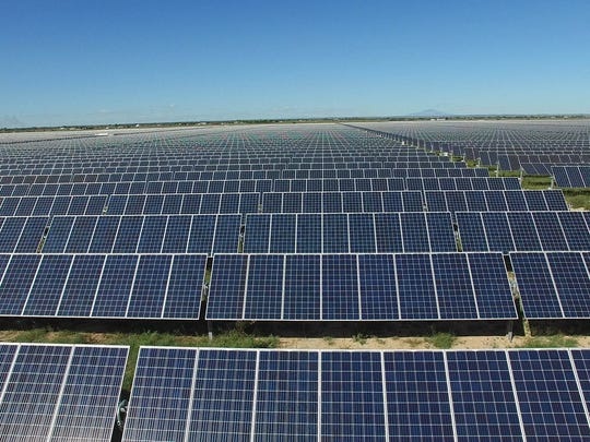 The two solar energy facilities sit on around 1,400