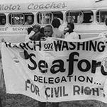 Seaford residents are shown before the March on Washington, D.C., in this theme photo of a symposium this week at Delaware State University in Dover.