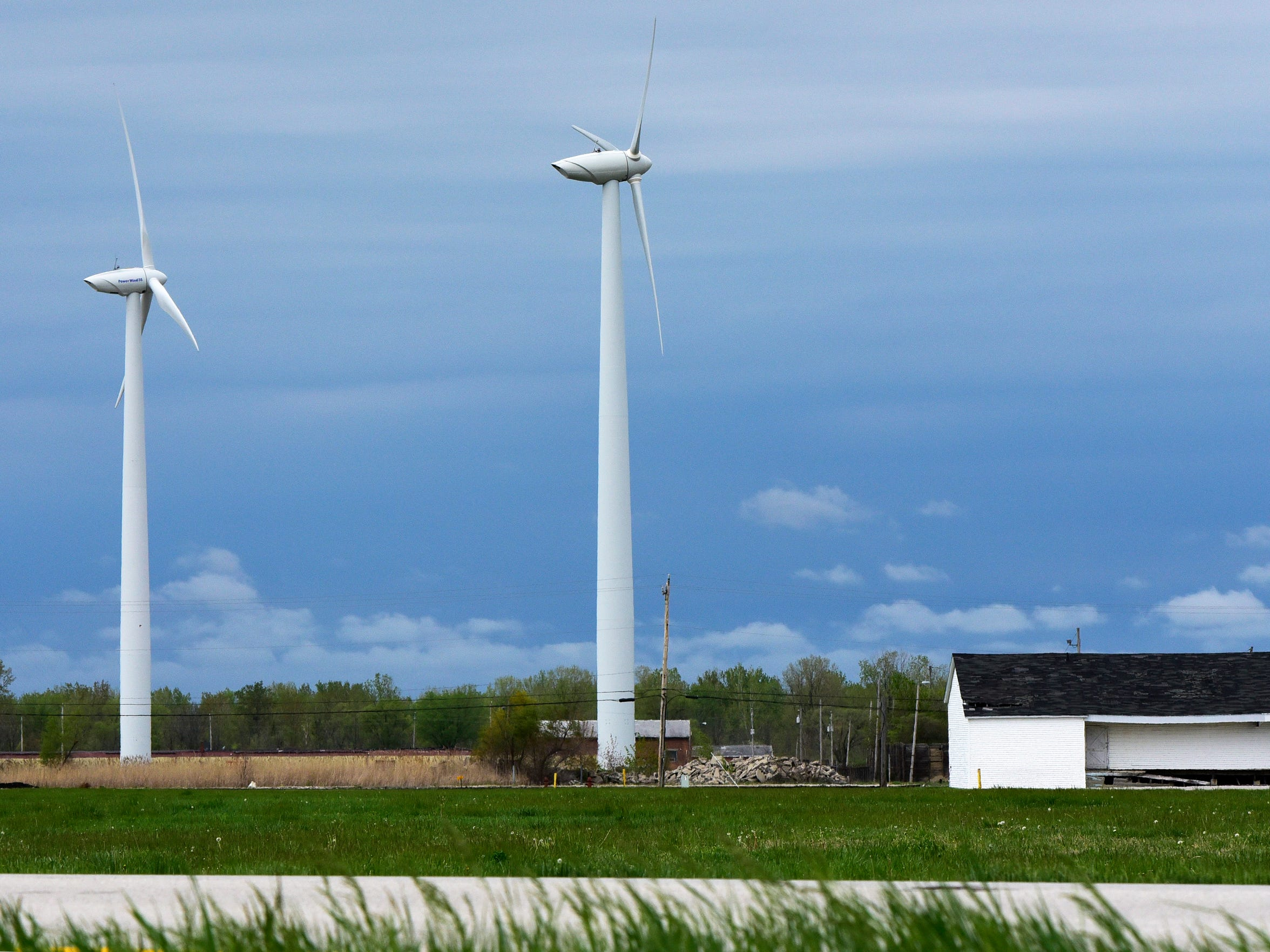 Wind turbines have been built in Port Clinton but bird
