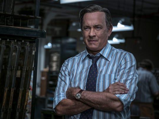 """Tom Hanks plays newspaperman Ben Bradlee in """"The Post."""""""