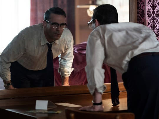 "Laramie (Jon Hamm) checks out his hotel room in ""Bad"