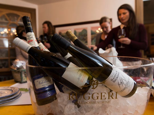 Assorted Austrian wines on ice await consumption at