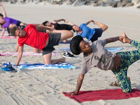 Beach yoga in Long Branch—July 19, 2016 -Long Branch,