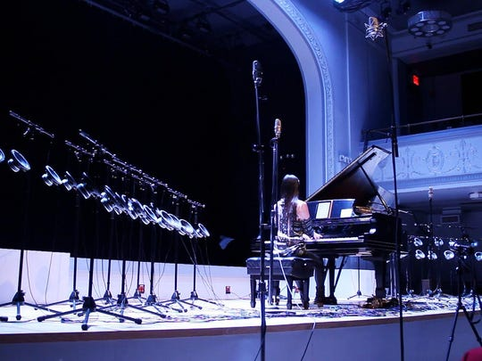 "Vicky Chow performs Tristan Perich's ""Surface Image"" at Roulette in Brooklyn, N.Y., in 2013."