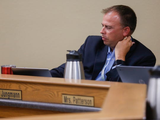 Springfield Superintendent John Jungmann comments on a proposed school board policy regarding emergency drills during the July 17 meeting of the board.