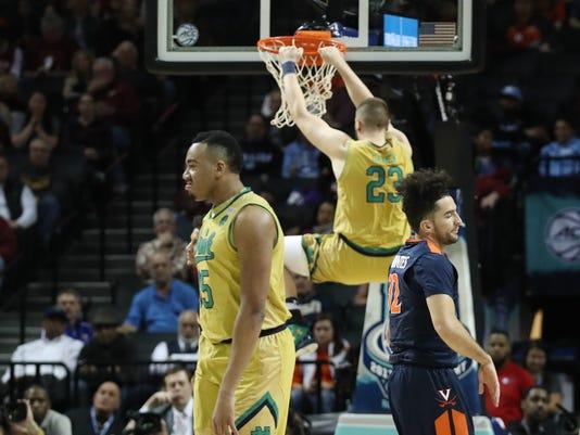 NCAA Basketball: ACC Conference Tournament-Notre Dame Fighting Irish vs Virginia Cavaliers